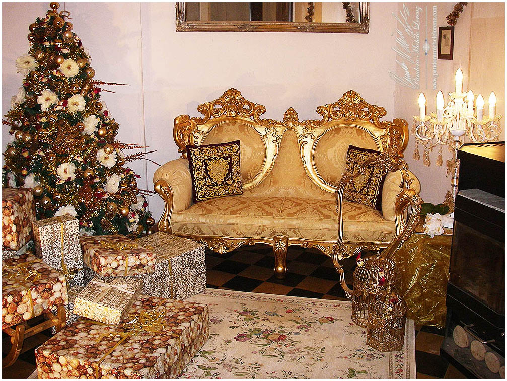 Weihnachtsdeko nostalgie weihnachtsbaum weihnachtsmann for Antike weihnachtsdeko