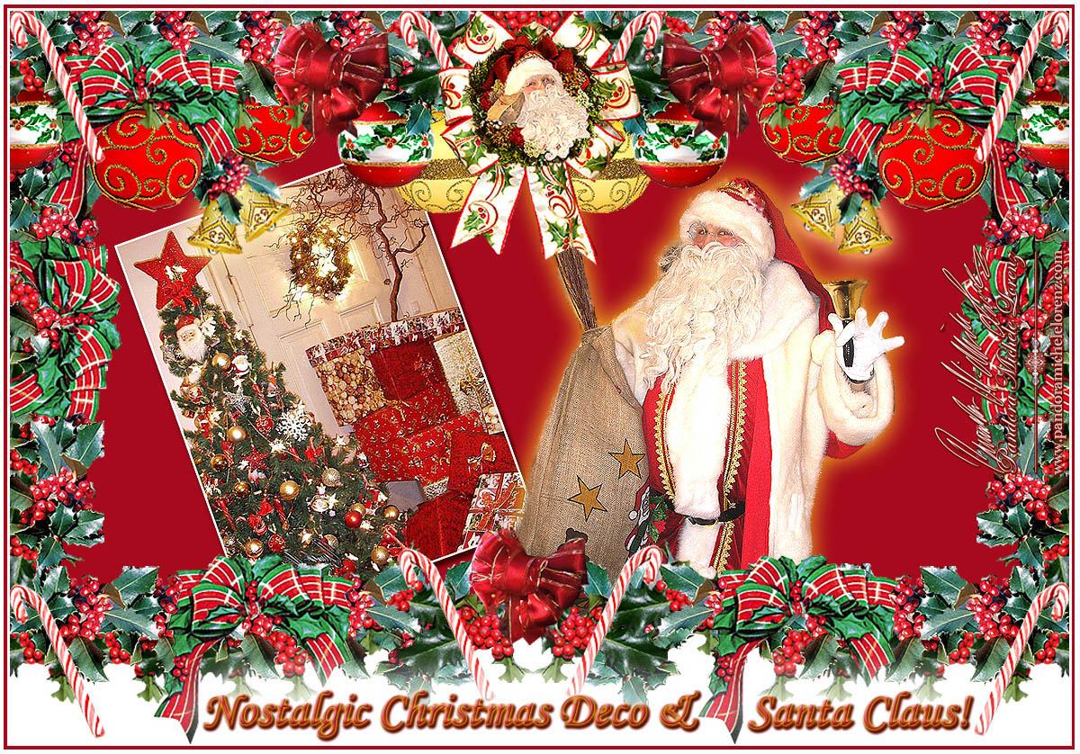 Weihnachtsdeko nostalgie weihnachtsbaum weihnachtsmann Antike weihnachtsdeko
